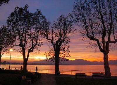 tramonto sul lago d'Iseo